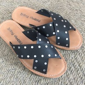 Dirty Laundry flat studded sandals  6.5